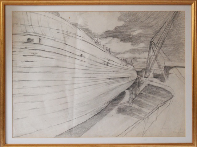 Hulk Of The SS. Great Britain £500 pencil on paper  75cm x 5