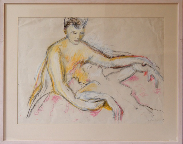 Venus Working    Drawings 2   £500 Conte and Chalk on paper